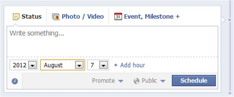 Facebook Schedule Posting
